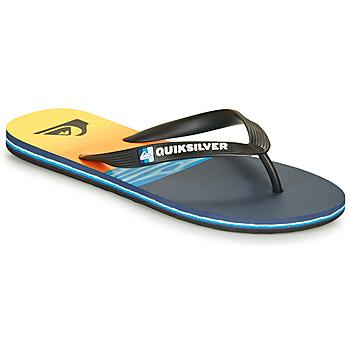 Zapatos Hombre Chanclas Quiksilver MOLOKAI HOLD DOWN Negro / Azul