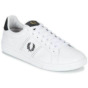 Zapatos Hombre Zapatillas bajas Fred Perry B721 LEATHER Blanco