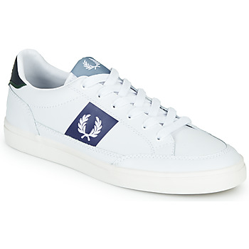 Zapatos Hombre Zapatillas bajas Fred Perry B8198 LEATHER / WHITE / NAVY Blanco