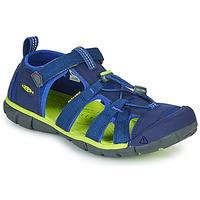 Zapatos Niños Sandalias de deporte Keen SEACAMP II CNX Azul / Verde