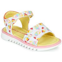 Zapatos Niña Sandalias Agatha Ruiz de la Prada SMILES Blanco / Multicolor