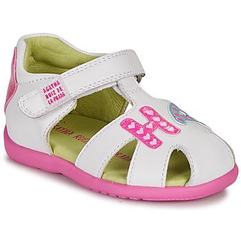 Zapatos Niña Sandalias Agatha Ruiz de la Prada HAPPY Blanco / Rosa
