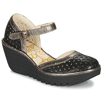 Zapatos Mujer Zapatos de tacón Fly London YVEN Negro / Bronce
