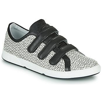 Zapatos Mujer Zapatillas bajas Pataugas JULIETTE Negro / Blanco