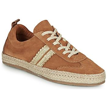 Zapatos Mujer Alpargatas Pataugas PIA Cognac / Oro