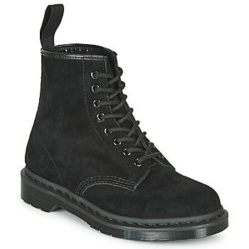 Zapatos Botas de caña baja Dr Martens 1460 MONO SOFT BUCK Negro