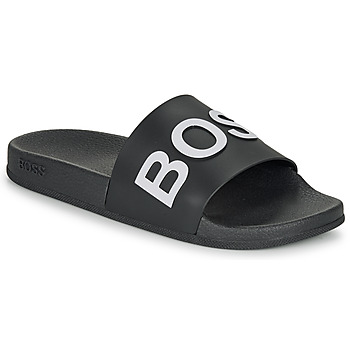 Zapatos Hombre Chanclas BOSS BAY SLID RBLG Negro / Blanco
