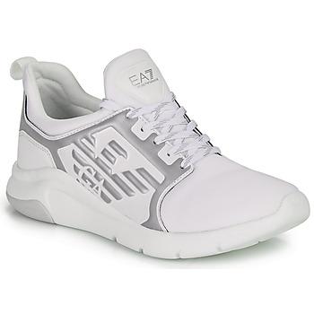 Zapatos Zapatillas bajas Emporio Armani EA7 RACER REFLEX CC Blanco / Plateado