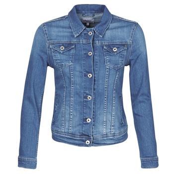 textil Mujer Chaquetas denim Pepe jeans THRIFT Azul / Medium / Hb6