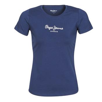 textil Mujer Camisetas manga corta Pepe jeans NEW VIRGINIA Marino