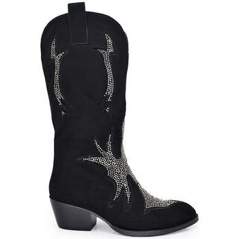Zapatos Mujer Botas urbanas Exé Shoes BOTAS COWBOY STRASS T1157A-A1488 Color Negro