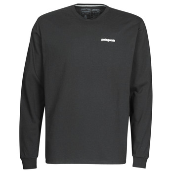 textil Hombre Camisetas manga larga Patagonia M's L/S P-6 Logo Responsibili-Tee Negro