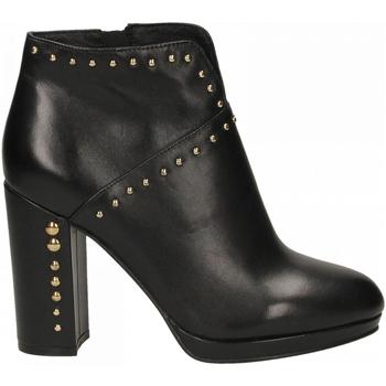 Zapatos Mujer Low boots Café Noir TRONCHETTO TACCO ALTO E PLATEAUX CON APERTURA DAVA 010-nero
