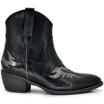 Zapatos Mujer Botines Exé Shoes BOTINES COWBOY DETALLES PLATA DALLAS-902 Color Negro