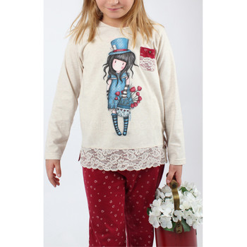 textil Niña Pijama Admas Pantalones de pijama manga larga El Sombrerero marfil Santoro Amarillo
