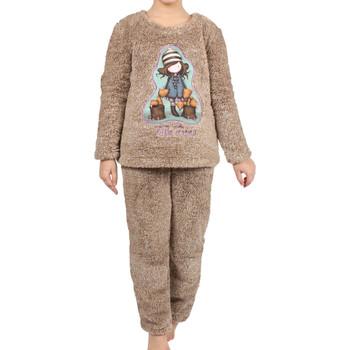 textil Niña Pijama Admas Pijama de manga larga pantalones Corel Los Zorros marrones Púrpura