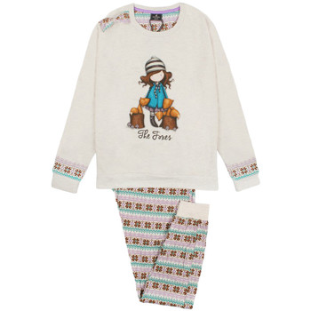 textil Niña Pijama Admas Pijama de manga larga Felpa Los Zorros marfil Santoro Londres Amarillo