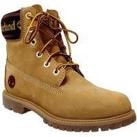 Zapatos Mujer Botas de caña baja Timberland A25mk Premium 6 in Amarillo nobuck