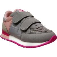 Zapatos Niña Zapatillas bajas Pepe jeans Sydney basic girl velcro Gris/rosa