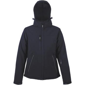 textil Mujer chaquetas de deporte Sols ROCK WOMEN WINTER - SOFTSHELL ACOLCHADO Azul