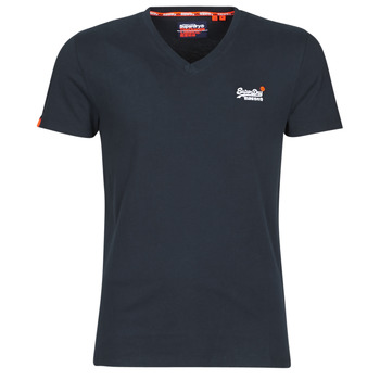 textil Hombre camisetas manga corta Superdry ORANGE LABEL VNTGE EMB VEE TEE Eclipse / Navy