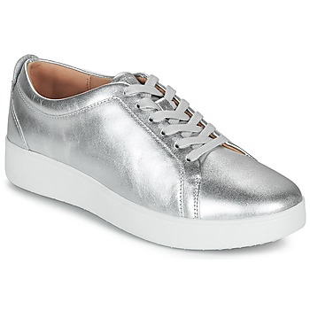 Zapatos Mujer Zapatillas bajas FitFlop RALLY SNEAKERS Plata