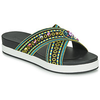Zapatos Mujer Zuecos (Mules) Desigual SHOES_NILO_BEADS Negro