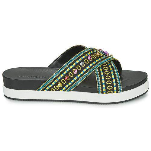 Desigual Shoes_nilo_beads Negro - Envío Gratis Zapatos Zuecos (mules) Mujer 48