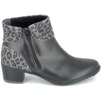 Zapatos Mujer Botines Boissy Boots Noir Leopard Negro