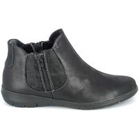 Zapatos Mujer Botas de caña baja Boissy Boots Noir texturé Negro