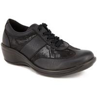 Zapatos Mujer Derbie Arcopedico L73 PIEL-LICRA NEGRA NEGRO