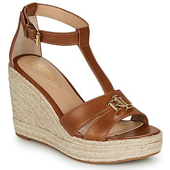 Zapatos Mujer Sandalias Lauren Ralph Lauren HALE ESPADRILLES CASUAL Cognac