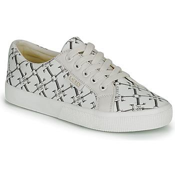 Zapatos Mujer Zapatillas bajas Lauren Ralph Lauren JAYCEE NE SNEAKERS VULC Crema