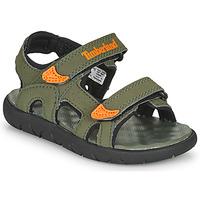 Zapatos Niños Sandalias Timberland Perkins Row 2-Strap Verde / Naranja