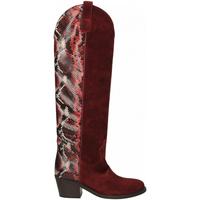Zapatos Mujer Botas urbanas Via Roma 15 TEXANO ALTO 347 chianti-rosso