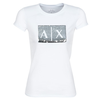textil Mujer Camisetas manga corta Armani Exchange HANEL Blanco