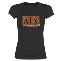 textil Mujer camisetas manga corta Armani Exchange HONEY Negro