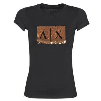 textil Mujer Camisetas manga corta Armani Exchange HONEY Negro