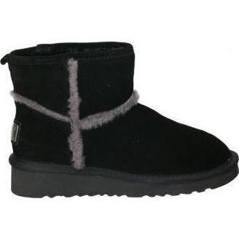 Zapatos Mujer Botas de nieve Top3 Botines  9786 moda joven negro Noir