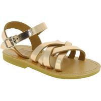 Zapatos Niña Sandalias Attica Sandals HEBE CALF GOLD PINK Oro rosa