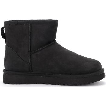 Zapatos Mujer Botas de nieve UGG Botín Ugg Classic II Mini de piel negra Negro