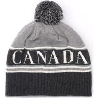 Accesorios textil Mujer Gorro Canada Goose Gorra de lana gris con pompón Gris