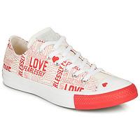Zapatos Mujer Zapatillas bajas Converse CHUCK TAYLOR ALL STAR - OX Blanco / Rojo