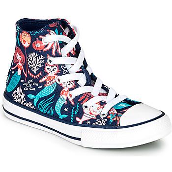 Zapatos Niña Zapatillas altas Converse CHUCK TAYLOR ALL STAR UNDERWATER PARTY Azul