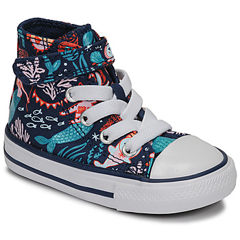 Zapatos Niña Zapatillas altas Converse CHUCK TAYLOR ALL STAR 1V UNDERWATER PARTY Azul