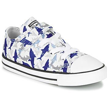 Zapatos Niño Zapatillas bajas Converse CHUCK TAYLOR ALL STAR 1V SHARK BITE - OX Azul / Blanco