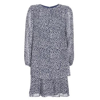 textil Mujer vestidos cortos Lauren Ralph Lauren  Marino / Blanco
