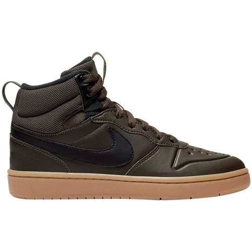 zapatillas altas nike marrones