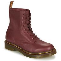 Zapatos Mujer Botas de caña baja Dr Martens 1460 Pascal Rojo