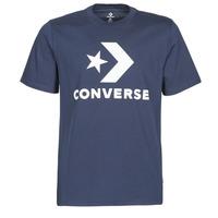 textil Hombre camisetas manga corta Converse STAR CHEVRON TEE Azul